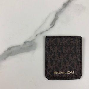 NWOT Michael Kors monogram card case phone pocket